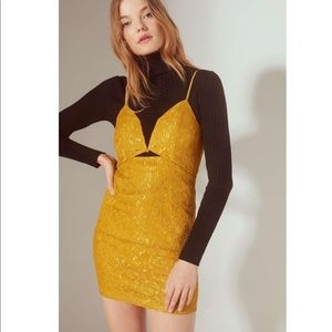 NWT Line + Dot Lace Bodycon Mini Dress